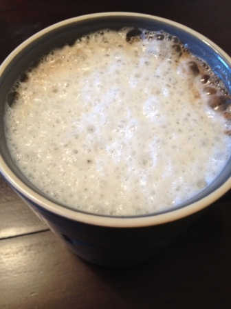 Coffee with some frothed milk.