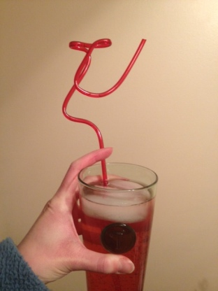 And then this happened: homemade cranberry liqueur with club soda. Delicious!