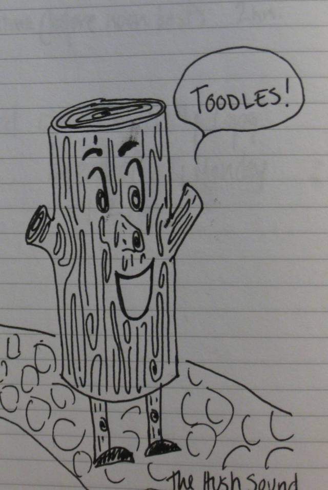 Quite possibly my favorite doodle of a log.
